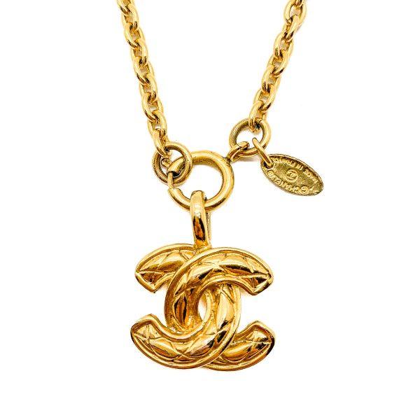 Vintage Chanel Matelassé Necklace