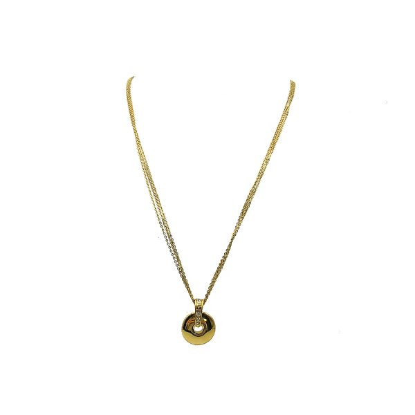 Vintage Givenchy Disc Necklace