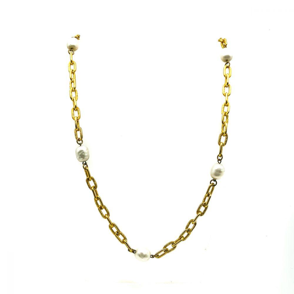 Vintage YSL Pearl Necklace