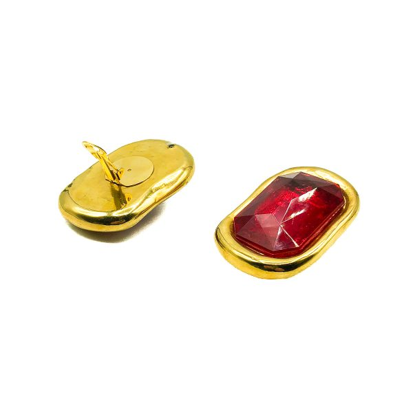 Vintage Red Givenchy Earrings