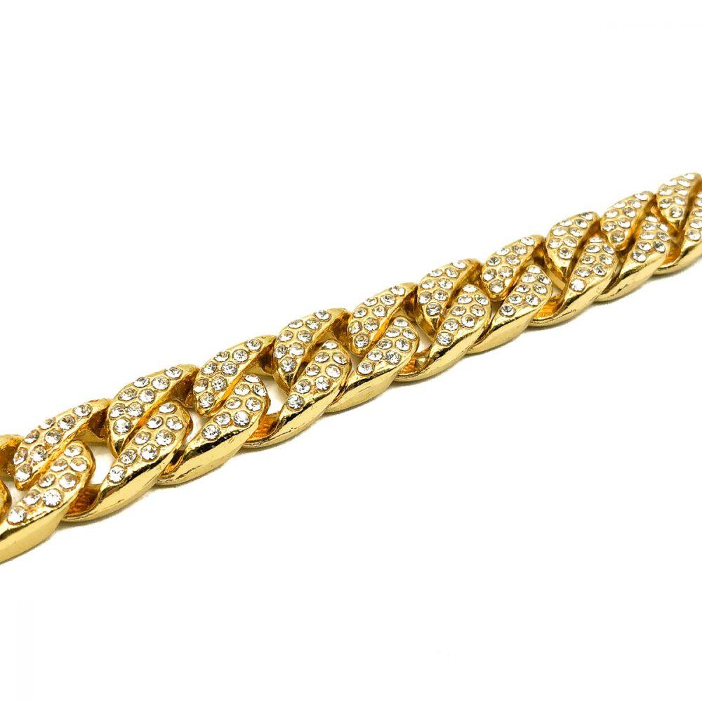 Vintage Gold Curb Bracelet