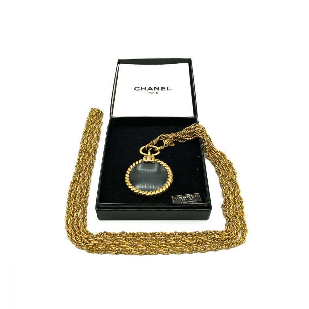 Vintage Chanel Looking Glass Necklace