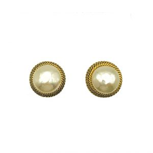 Vintage Chanel Pearl Earrings