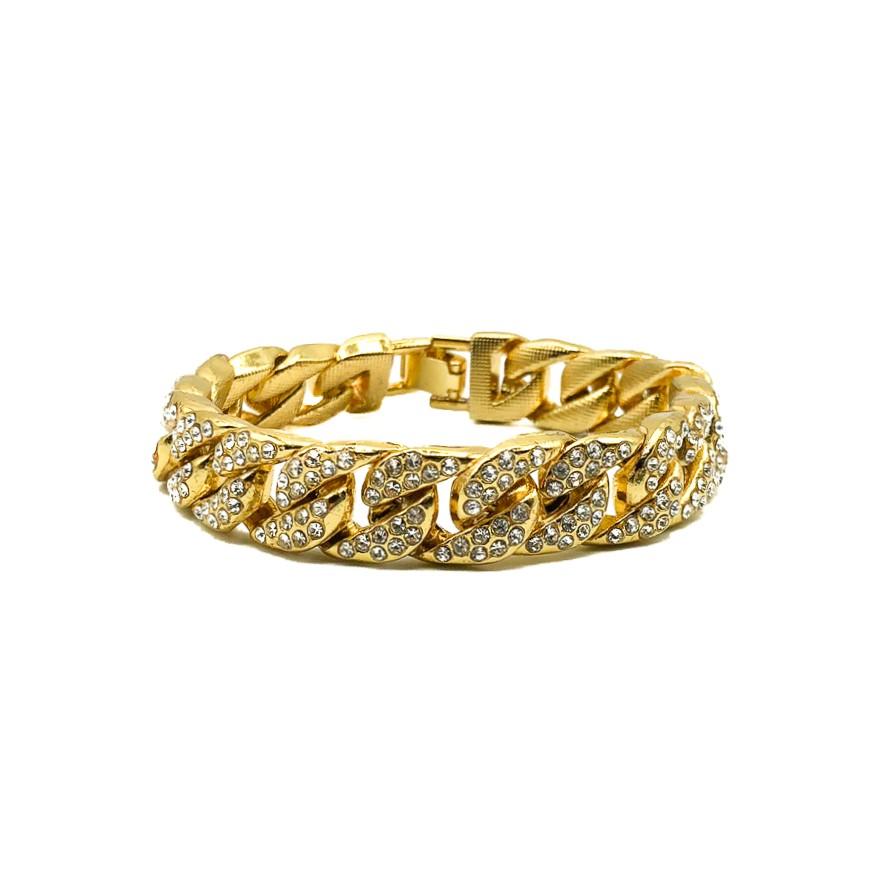Vintage Jewelled Curb Bracelet