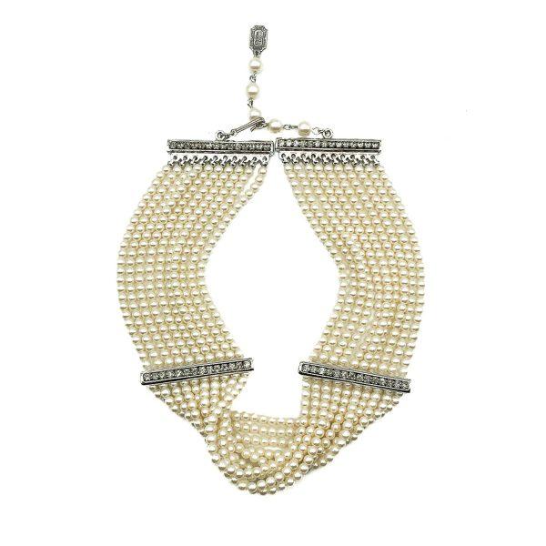 Jennifer Gibson Vintage Jewellery Vintage Dior Pearl Choker Necklace 3 865 (1)