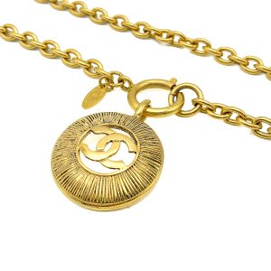 Vintage Chanel Sunburst Necklace