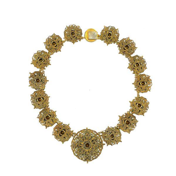Vintage Czech Filigree Star Necklace