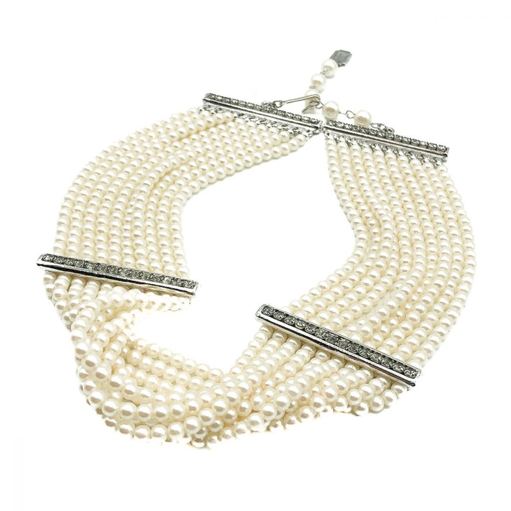 Vintage Dior Pearl Choker Necklace