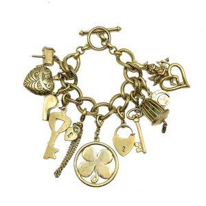 Vintage Monet Charm Bracelet