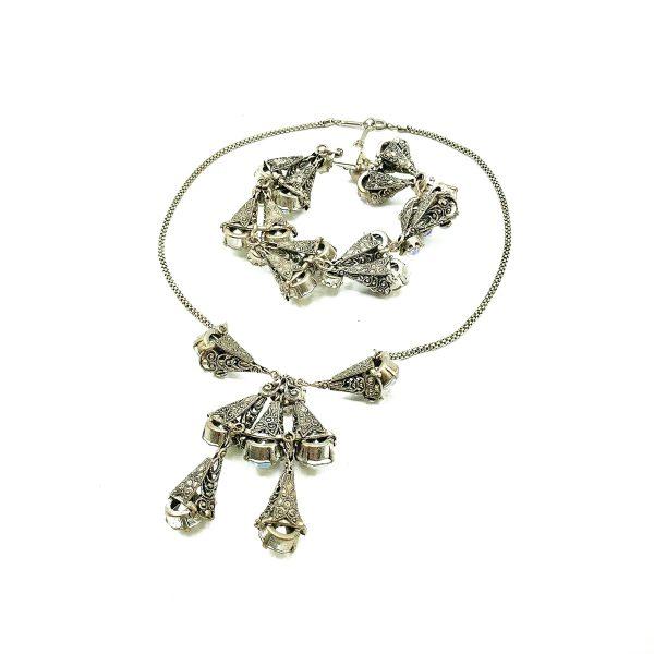 Vintage Aurora Borealis Necklace Suite