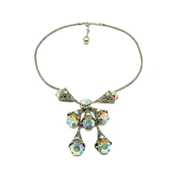 Vintage Aurora Borealis Necklace Suite