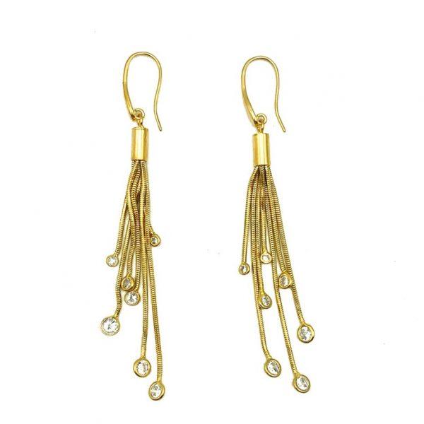 Vintage Crystal Tassel Earrings