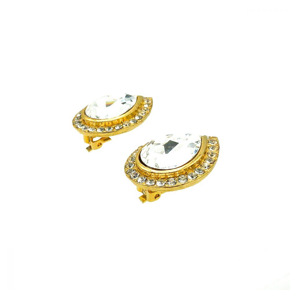 Vintage Crystal Teardrop Earrings