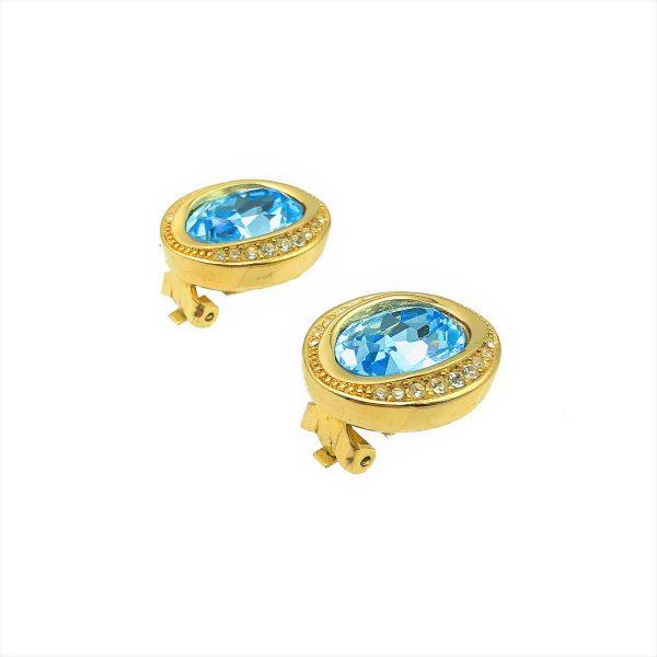 Vintage Dior Aqua Earrings