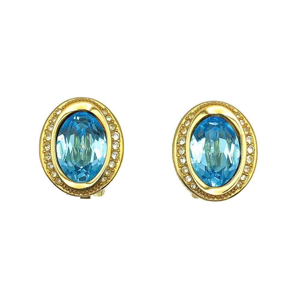 Vintage Dior Aqua Earrings
