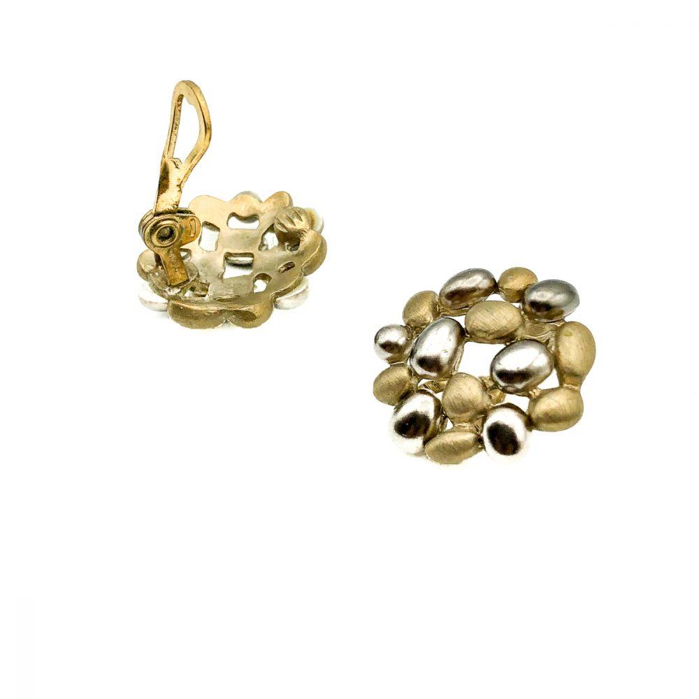 Vintage Monet Pebble Earrings