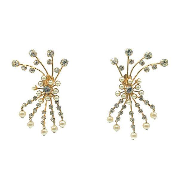 Vintage Pearl Spray Earrings