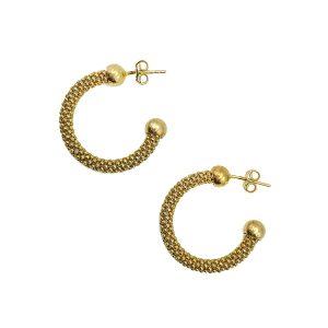 Vintage Silver Vermeil Hoop Earrings