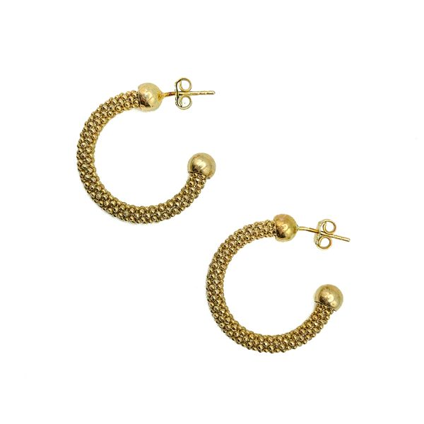 Vintage Silver Vermeil Hoop Earrings
