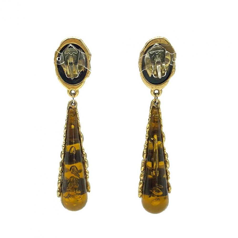 Vintage Tortoiseshell Drop Earrings