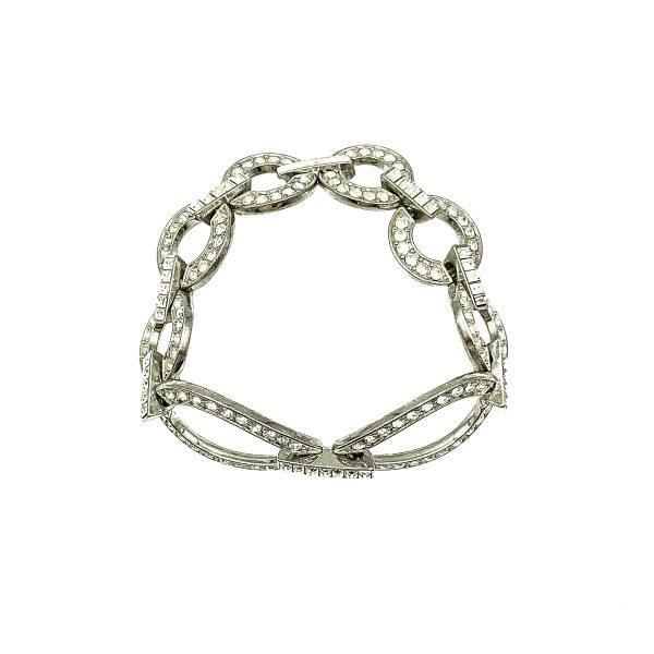 Vintage Deco Crystal Cocktail Bracelet