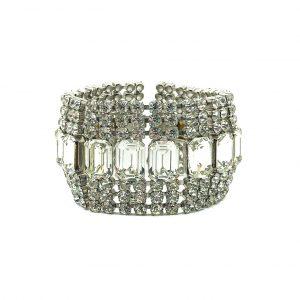Vintage Rhinestone Cocktail Bracelet