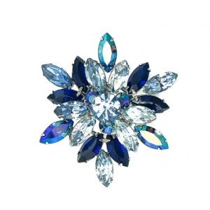 Vintage Regency Blue Crystal Brooch