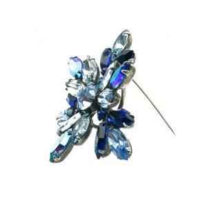 Vintage Regency Blue Crystal Brooch