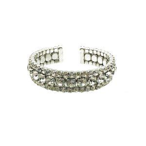 Vintage Crystal Cocktail Cuff Bracelet
