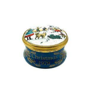 Vintage Bilston & Battersea Enamel 1979 Christmas Box