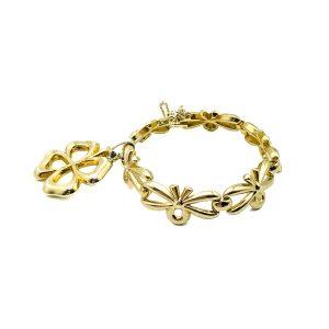 Vintage Monet Clover Talisman Bracelet