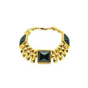 Vintage Monet Black Pyramid Bracelet