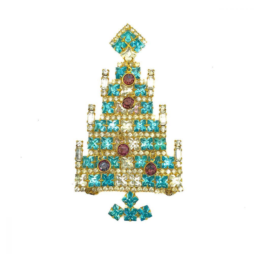 Vintage Dominique Christmas Tree Brooch