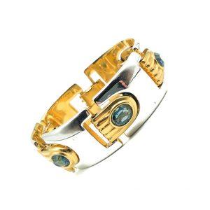 Vintage Modernist Sapphire Bracelet