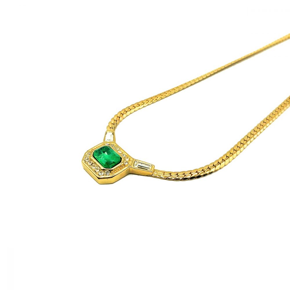 Vintage Dior Emerald Necklace