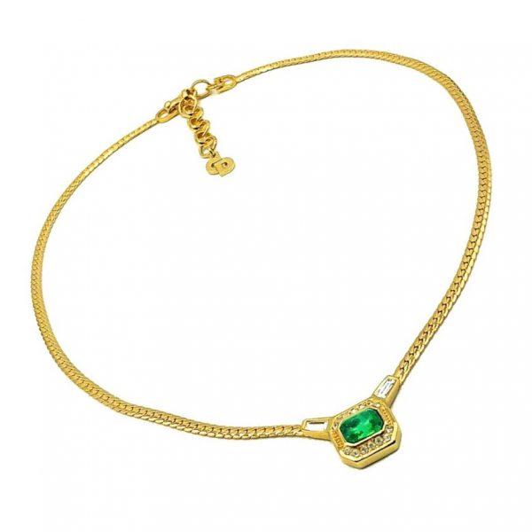 Vintage Dior Emerald Necklace