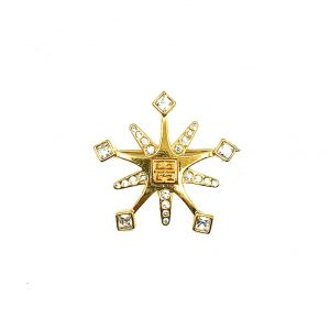 Vintage Givenchy Snowflake Brooch
