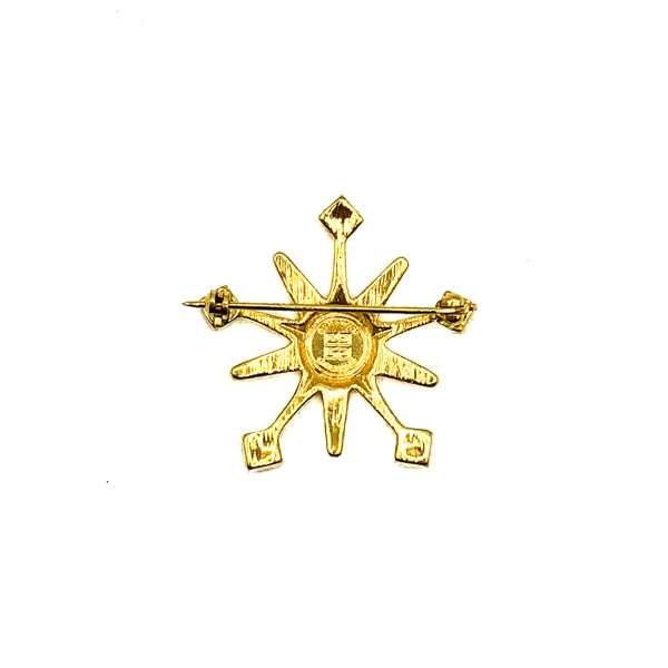 Vintage Givenchy Snowflake Brooch