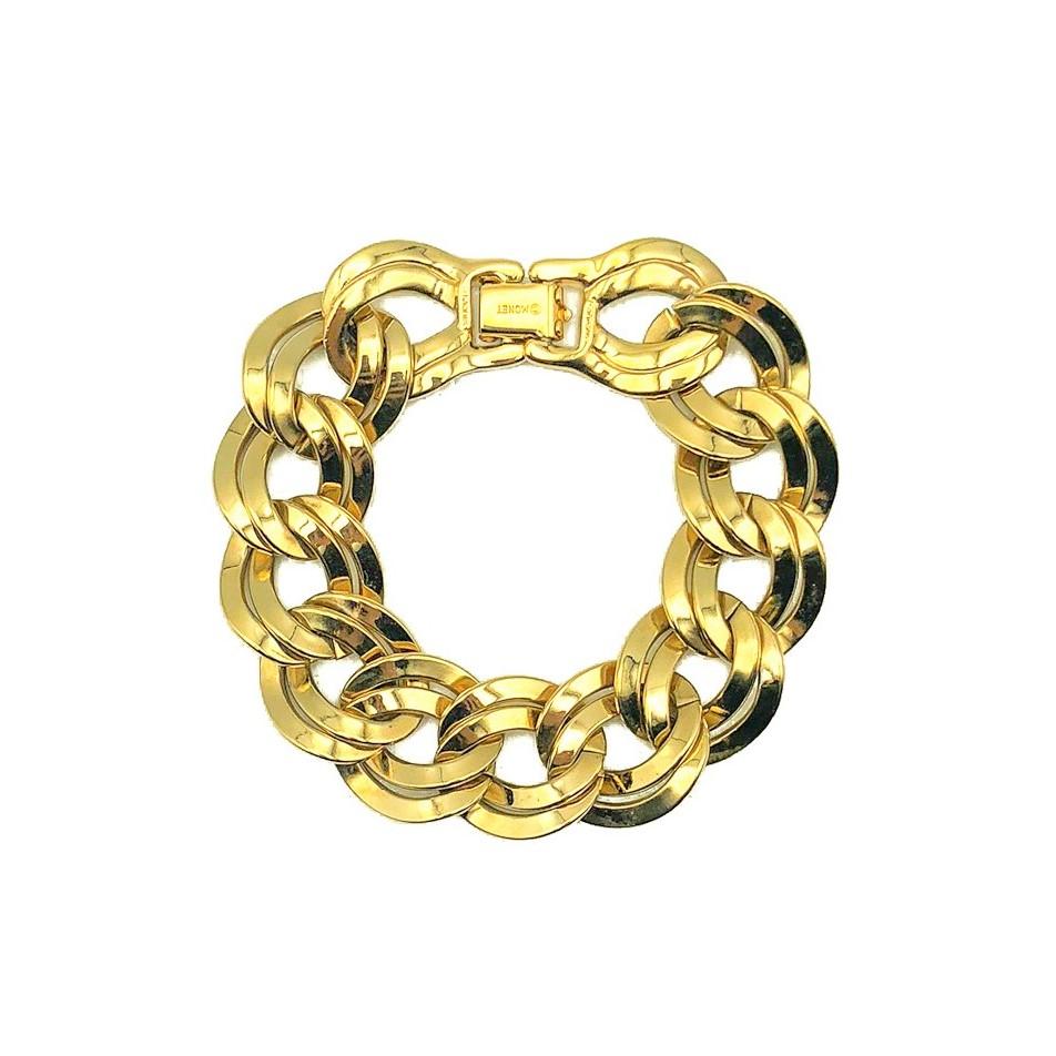Vintage Monet Chunky Curb Bracelet