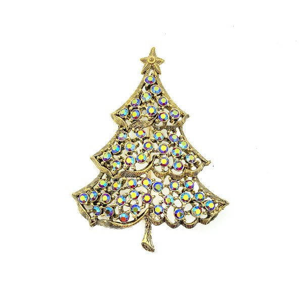 Vintage Weiss Christmas Tree Brooch