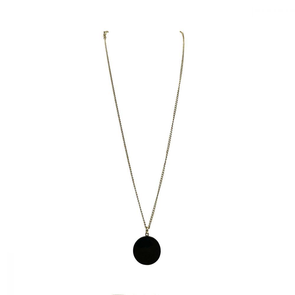 Chanel Black CC Necklace