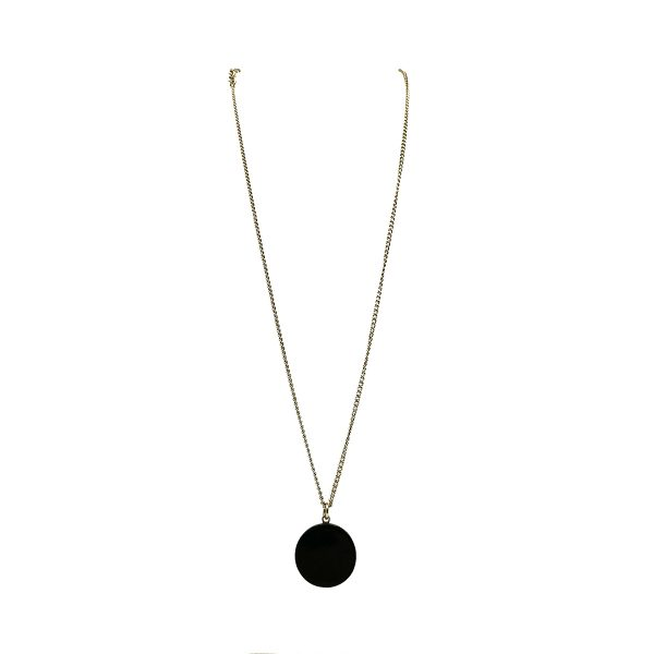 Chanel Black CC Necklace