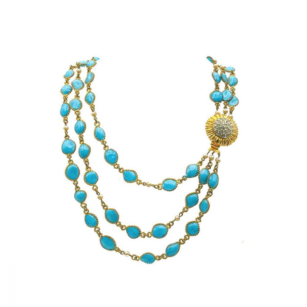 Vintage Gripoix Turquoise Necklace