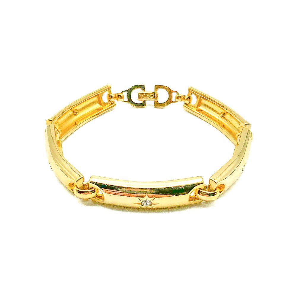 Vintage Dior Gold Stars Bracelet