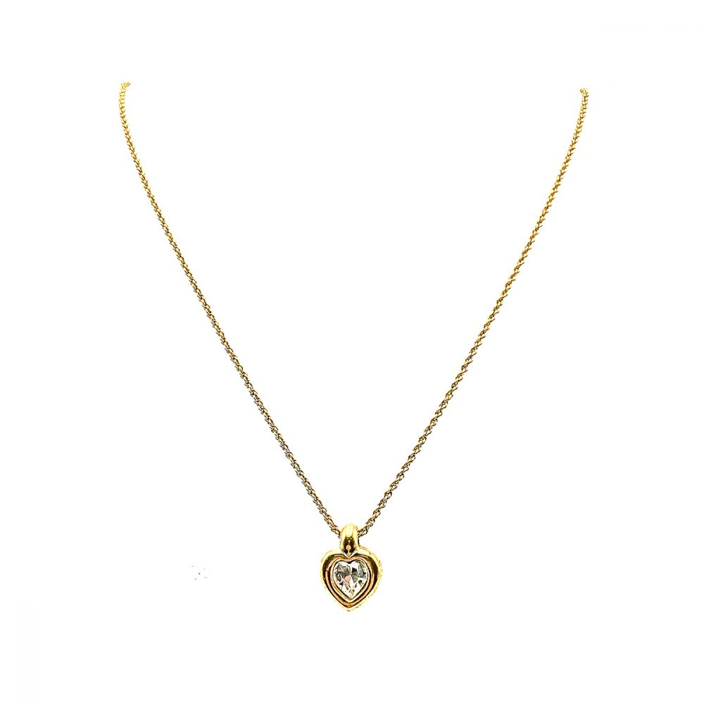 Vintage Dior Heart Necklace