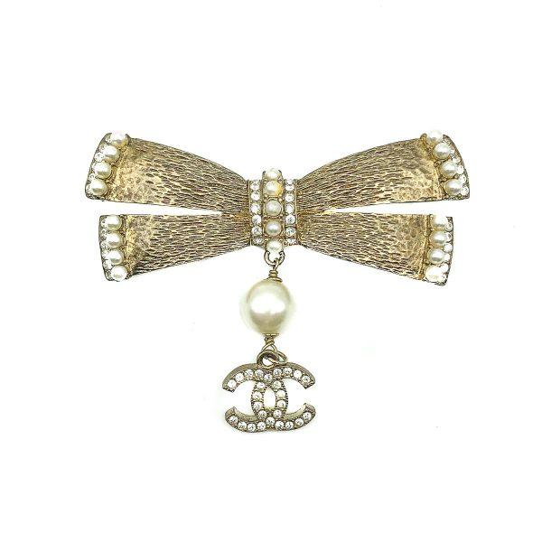 Vintage Chanel Bow Logo Brooch