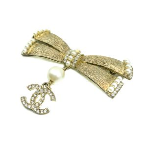 Vintage Chanel Bow Logo Brooch