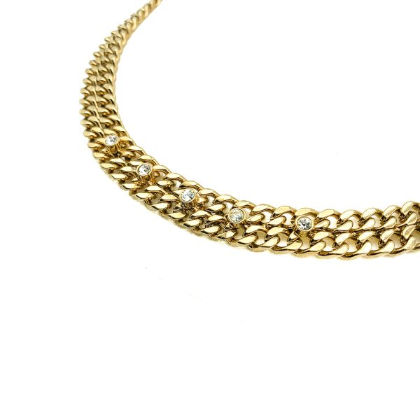 Vintage Crystal Chain Necklace