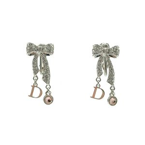 Vintage Dior Bow Logo Earrings