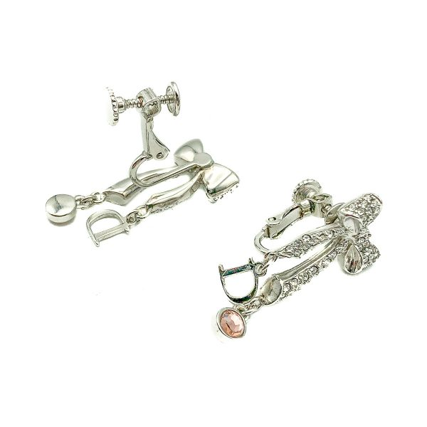 Vintage Dior Bow Logo Earrings